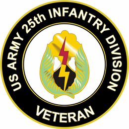 U.S. Army Veteran 25th Infantry Division Unit Crest Sticker Decal