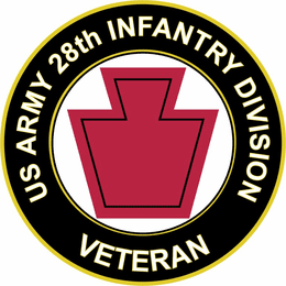 U.S. Army Veteran 28th Infantry Division Sticker Decal
