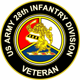 U.S. Army Veteran 28th Infantry Division Unit Crest Sticker