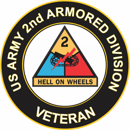 U.S. Army Veteran 2nd Armored Division Sticker Decal
