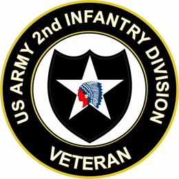 U.S. Army Veteran 2nd Infantry Division Sticker Decal