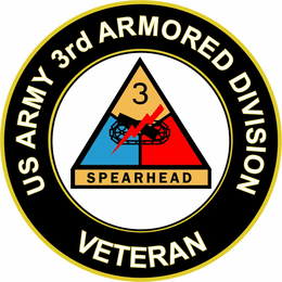 U.S. Army Veteran 3rd Armored Division sticker decal