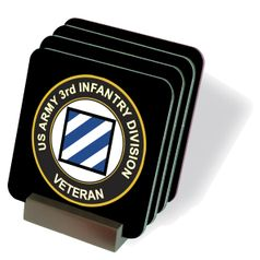 U.S. Army Veteran 3rd Infantry Division Coasters - Set of 4