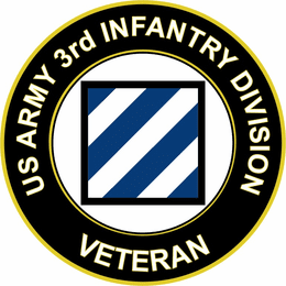 U.S. Army Veteran 3rd Infantry Division sticker decal
