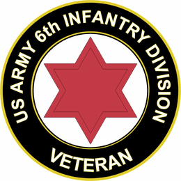 U.S. Army Veteran 6th Infantry Division sticker decal