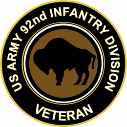U.S. Army Veteran  92ND INFANTRY DIVISION Sticker Decal
