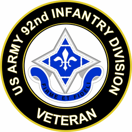 U.S. Army Veteran 92ND INFANTRY DIVISION UC Sticker Decal