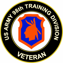 U.S. Army Veteran 98th Training Division Sticker Decal