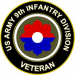 U.S. Army Veteran 9th Infantry Division Sticker Decal