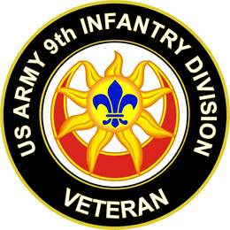 U.S. Army Veteran 9th Infantry Division Unit Crest Sticker Decal