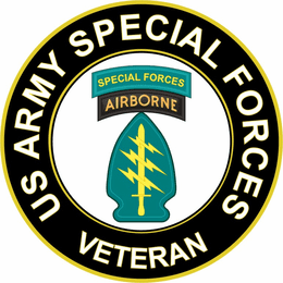 U.S. Army Veteran Special Forces Airborne Sticker Decal