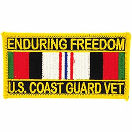 U.S. Coast Guard Operation Enduring Freedom With Service Ribbon Patch