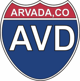 US Interstate Sticker Arvada Colorado