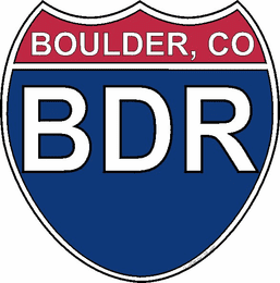 US Interstate Sticker Boulder Colorado