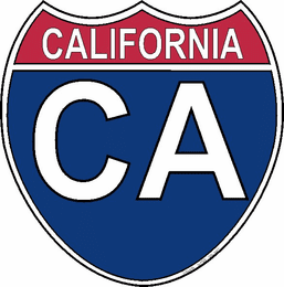 US Interstate Sticker California