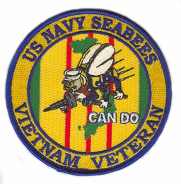 "U.S. Navy Seabees Vietnam Veteran 4"" Patch"