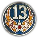 USAF 13th Air Force Lapel Hat Pin