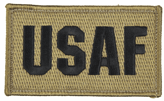 USAF 2 x 3 Inch Coyote Brown Hook and Loop Patch
