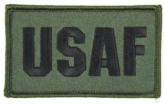 USAF 2 x 3 Inch OD Green Hook and Loop Patch