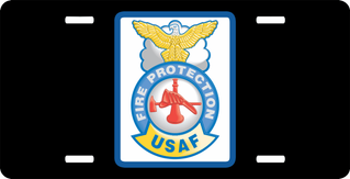 USAF Fire Protection License Plate