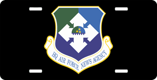 USAF HQ Air Force News Agency License Plate