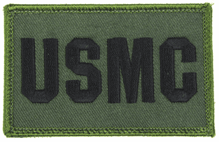 USMC 2 x 3 Inch OD Green Hook and Loop Patch