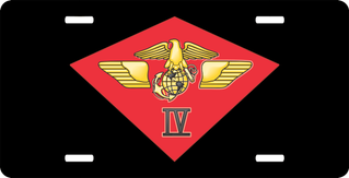 USMC 4th Marine Air Wing License Plate