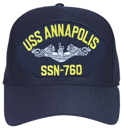 USS Annapolis SSN-760 ( Silver Dolphins ) Submarine Enlisted Direct Embroidered Cap
