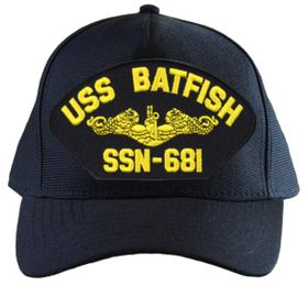 USS Batfish SSN-681 ( Gold Dolphins ) Submarine Officers Cap