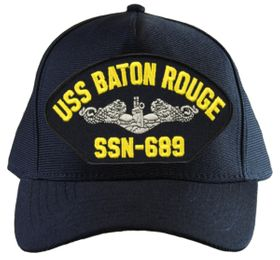 USS Baton Rouge SSN-689 ( Silver Dolphins ) Submarine Enlisted Direct Embroidered Cap