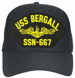 USS Bergall SSN-667 ( Gold Dolphins ) Submarine Officers Direct Embroidered Cap