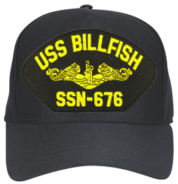 USS Billfish SSN-676 ( Gold Dolphins ) Submarine Officers Custom Embroidered Cap