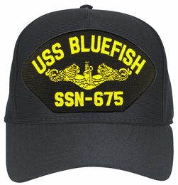 USS Bluefish SSN-675 ( Gold Dolphins ) Submarine Officers Cap