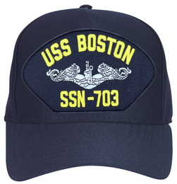 USS Boston SSN-703 ( Silver Dolphins ) Submarine Enlisted Cap