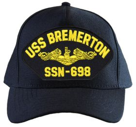 USS Bremerton SSN-698 ( Gold Dolphins ) Submarine Officers Cap