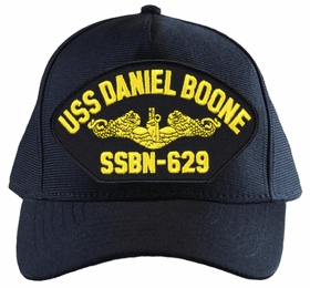 USS Daniel Boone SSBN-629 ( Gold Dolphins ) Submarine Officers Custom Embroidered Cap