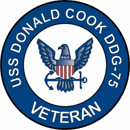 USS Donald Cook DDG-75 Veteran Decal Sticker