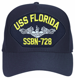 USS Florida SSBN-728 ( Silver Dolphins ) Submarine Enlisted Cap