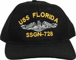 USS Florida SSGN-728 Direct Embroidered Ball Cap