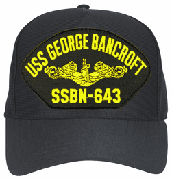 USS George Bancroft SSBN-643 ( Gold Dolphins ) Submarine Officers Direct Embroidered Cap