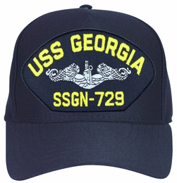 USS Georgia SSGN-729 Enlisted Navy Blue Ball Cap Hat