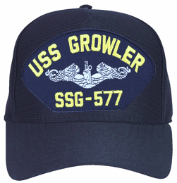 USS Growler SSG-577 ( Silver Dolphins ) Submarine Enlisted Cap