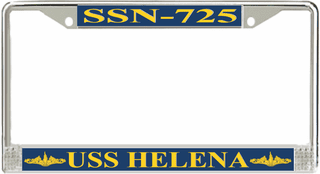 USS Helena SSN-725 License Plate Frame