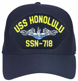 USS Honolulu SSN-718 Blue Water ( Silver Dolphins ) Submarine Custom Embroidered Enlisted Cap