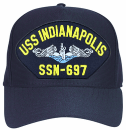 USS Indianapolis SSN-697 Blue Water ( Silver Dolphins ) Submarine Enlisted Cap