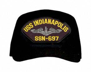 USS Indianapolis SSN-697 ( Silver Dolphins ) Submarine Enlisted Cap