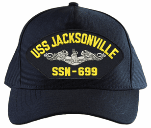 USS Jacksonville SSN-699 ( Silver Dolphins ) Submarine Enlisted Cap