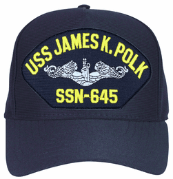 USS James K. Polk SSN-645 ( Silver Dolphins ) Submarine Enlisted Direct Embroidered Cap