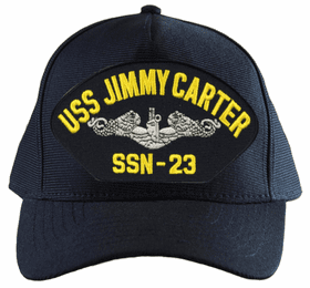 USS Jimmy Carter SSN-23 ( Silver Dolphins ) Submarine Enlisted Embroidered Cap