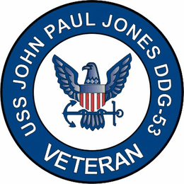 USS John Paul Jones DDG-53 Veteran Decal Sticker